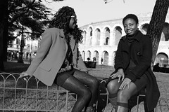 EVA_f0410 (EVA Stock Footages) Tags: africa new light sunset portrait people blackandwhite italy white black men girl beautiful beauty look fashion mouth hair donna model glamour women eva europe italia tramonto photographer dress view natural image smoke afro profile stock dream young archive smoking peter photographs verona second donne immigrants bianco nero generation luce biancoenero bellezza futuro ragazza fotografo ragazzo fumo bello immagine veneto royaltyfree profilo modella naturale visioni footages africani identit afroitaliani evideos obehi ewanfoh