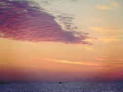 (GeorgianaBraga) Tags: pink light red sea sky orange cloud sun sunlight color nature water sunrise landscape nikon romania d3100