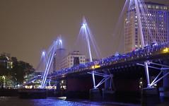 IMGP7074 (mattbuck4950) Tags: november england london water night europe unitedkingdom bridges rivers riverthames 2014 goldenjubileebridges cityofwestminster londonboroughoflambeth camerapentaxk50