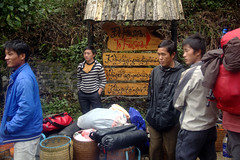 Packing for Fansipan (pbr42) Tags: people sign basket luggage vietnam porter sapa porters fansipan