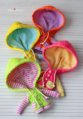 Anniedollz Handmade Blythe Outfits Fluorescent Sequins Hoodie