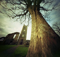 Wandering and Shooting - Abbey View (wheehamx) Tags: color colour angle wide pinhole irvine ayrshire