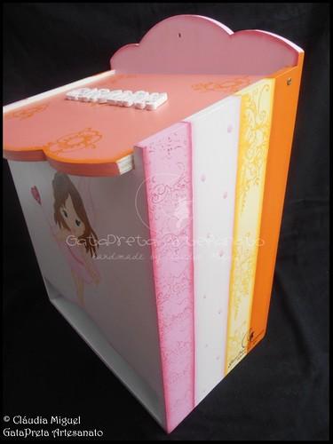 """Fraldário, caixa de recordações de bebé e placa de porta """"Sweet Baby Fairy"""""""