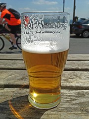 On Yer Bike (RoystonVasey) Tags: summer tree apple beer glass car cherry real high pub cyclist 5 south yorkshire ale passing pint stroll iphone hoyland