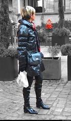 Galinette noire (Olivier Simard Photographie) Tags: woman black sexy girl leather cutout noir legs boots femme domination nb colmar amour alsace blonde sensuality fille sophisticated jambes bottes leggings regard elegance candidshot dsir thighboots erotism parisienne lgance eroticism cuir rve dfi sensuelle rotisme fminine sduction sensualit scnederue fminit kneehighleatherboots cuissardes couleursslectives oliviersimardphotographie