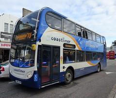 Stagecoach South 15992 (YN64 XSW) Brighton 15/12/14 (jmupton2000) Tags: uk bus sussex south 400 coastline alexander dennis 700 stagecoach scania enviro southdown coastliner yn64xsw
