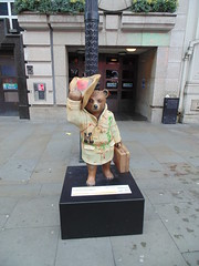 London - Paddington trail - Paddington the Explorer by Ripley's Believe it or not (KarenB Photos) Tags: bear charity sculpture london statue children december trail paddington 2014 nspcc