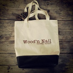 New totebag  อลิมิแตด  อยากได้ตามขอซื้อได้ที่ ig  @woodnnail  #totebag #bagstreet #bag #handmade #custommade #design #wood #nature #new #homestay #chiang_mai #thailand #natives