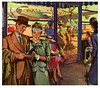 Good Bye, Good Luck, and All Good Things to You (paul.malon) Tags: 1948 swiss watch 1940s oldercouple postwar vintageads airpost goingawaygift scannedandretouchedbypaulmalon