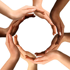 Multiracial Hands Making a Circle (dominicatorumstudiorum) Tags: people white abstract black building ecology sign race cutout dark circle logo togetherness team holding hands community different peace diverse arms natural symbol humanity many african background united unity group creative diversity environmental whitebackground creation human worldwide together american blank round environment concept copyspace framing care conceptual recycle shape races recycling protection making surrounding surrounded creating isolated racial metaphorical symbolic synergy symbolism teamwork multiracial mixedrace interracial protecting holistic darkskinned lightlframe