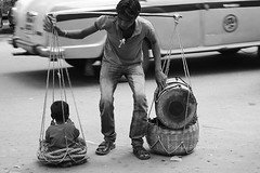 Balance (pathikdebmallik) Tags: street child drum wanderlust balance kolkata calcutta