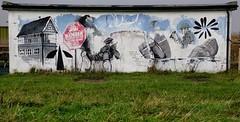 RSPB4 (leepow2000) Tags: flowers art water rain landscape graffiti graphics raindrops ww1 rainham rspb worldwar1art