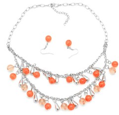 Sunset Sightings Orange Necklace P3120A-1
