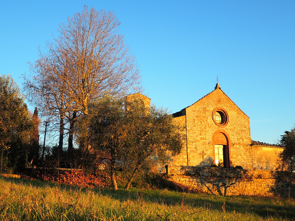 Little Country Church Moroder7 Tags Sunset Tramonto Chiesa Campagna Tuscany Siena Toscana Olivo
