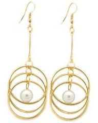 5th Avenue White Earrings P5611A-5