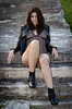 DSC_4812 (TimMurphyPhotography) Tags: girl leather model badass jacket bikini brunette cheyenne bikinimodel