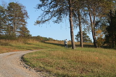 Landscape and Figure (bowdenartist) Tags: road trees people alone path figure