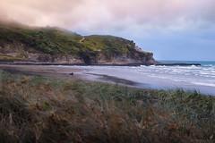 Dramatic Sunset (AlfredYKH Photographie) Tags: new sunset sea vacation seascape west beach sunrise landscape bay amazing couple dramatic zealand coastal maori kiwi 600d alfredykh