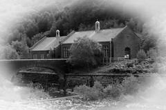 elan valley pump house mono (downhamdave) Tags: uk white black monochrome wales canon river eos raw conversion centre valley acr elan visitor vignette mid pumphouse powys rhayader 60d elements13