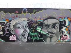 Artiste(s) inconnu(e)(s) : Bonne anne 2015 (Archi & Philou) Tags: streetart unknown inconnu bonneanne rueordener paris18