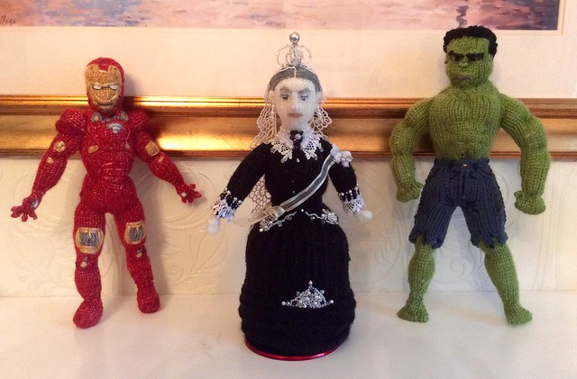 Ironman,Queen Victoria, Increditable Hulk