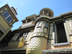 Winchester Mystery House: Door to Nowhere (shaire productions) Tags: california house building strange architecture fun weird photo exterior victorian picture sanjose architectural odd photograph winchester winchestermysteryhouse