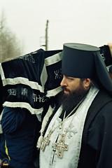 99. Архим. Арсений на погребении схиархим.Серафима (Мирчук) 2005 г