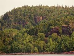 Lake Superior scene (dylan583) Tags: trees ontario film forest 35mm fujifilm lakesuperior northernontario canadianshield neysprovincialpark tamronlens minoltamaxxum5 ontarioparks telelphotolens tamronsp45670300usd