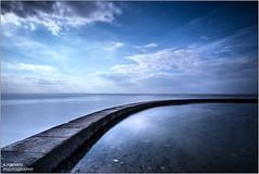 ____ ________ (Kevin HARWIN) Tags: blue sea england sky beach water pool canon eos bay kent sand long exposure britain south wide sigma wave east 1020mm tidal minnis 70d birchingtononsea