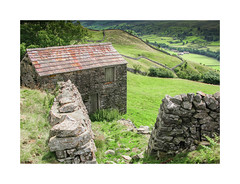 This way (oxfordwight) Tags: stone barn walking landscape view yorkshire walls footpath dales