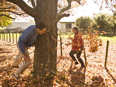 Autmumn Leaves 03 (C & R Driver-Burgess) Tags: autumn fall leaves fun amber play grandfather mother son liquid throw
