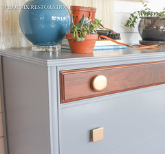 2016 0523 Gray and Gold Art Deco Full Size-9 (Phoenix Restoration   Furniture by Christina) Tags: seattle art phoenix century gold three general furniture painted traditional gray walnut drawer restoration dresser deco mid bohemian edmonds finishes