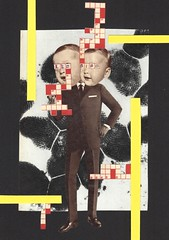 Leo & Pipo, by Riitta Koukkunen (Leo & Pipo) Tags: street old portrait paris france art collage illustration analog vintage paper design mixed artwork media graphic leo handmade cut paste surreal retro dada pipo papier imaginary colle riitta imaginaire leopipo koukkunen