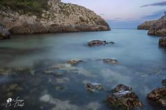 Acqua viva (lulo92) Tags: sunset sea italy moon landscapes photo nikon long tramonto mare pics pic luna castro salento hitech paradiso expositure nikond500 lorenzodedonnoph