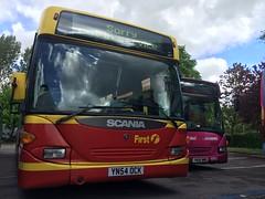 First Potteries - 65026 YN54OCK - B42F Scania OmniCity CN94UB (J. N. Brazier) Tags: bus green gold first service adderley scania sentinel potteries firstbus pmt omnicity 65040 65026 cn94ub yn06wmo yn54ock