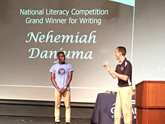 Nehemiah Wins National Literary Competition (YES Programs) Tags: nigeria onprogram yes16