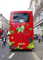 ML BYD1472 - LJ16EZN - REAR - REGENT STREET - SUN 3RD JULY 2016 (Bexleybus) Tags: street bus buses festival by design july 98 led route your dreams regent tfl 2016 metroline byd duild elrctric comfortdelgro k8sr lj16ezn byd1472