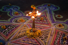 Four pointed star kolam closeup.jpg (melissaenderle) Tags: celebration festival kolam adyar