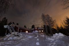 64-Moonlight_Cottages9 copy (Beverly Houwing) Tags: snow building night suomi finland frozen fullmoon lapland moonlight kukkola bungalow kukkolankoski