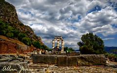 Delphi, Greece (Allan Jones Photographer) Tags: delphi tholos ancientdelphi ancientgreece mountparnassus oracle centreoftheancientworld history ruins worldheritagesite greek hdr photoshop travel allanjonesphotographer canon5d3 canonef24105mmf4lisusm