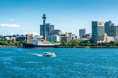 Yokohama, seen from the sea (Arutemu) Tags: city sea japan canon asian japanese asia cityscape ciudad  yokohama kanagawa japonesa  japon  japones  japonais          yokohamabay  japonaise  eos50d