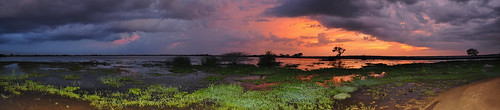 Weerawila Lake - Contrasting Skies Panorama