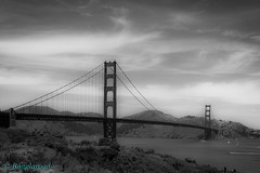 DSC00814 (banglaroad) Tags: sanfrancisco california bridge blackandwhite bw holiday sony goldengate majestic powerful anchitecture a6000
