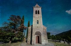 Little Church in Croatia (Swissrock) Tags: trees texture church photoshop july croatia photoart kroatien 2016 nikond700 nikkor1424mm andykobel