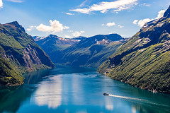 Summer in Norway (nureco) Tags: visit visitnorway travel discover hiking getout water mountains snow ship cruise rock panoramic blue clouds green forest landscape nature naturescape