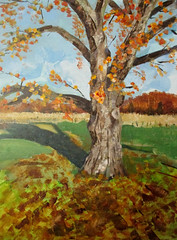 Sunny November (Chris V++) Tags: art painting landscape acrylic knife canvas palette