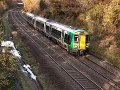 172 336. Wadleys Road. Worcester - Dorridge. 24 November 2014 (ricsrailpics) Tags: uk westmidlands solihull 2014 dmu londonmidland class172 wadleysroad