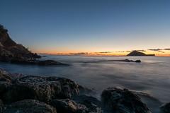 sunrise_at_Alassio (Ste.Viaggio) Tags: sea italy sunrise island nikon italia mare alba liguria tokina cielo rocce acqua viaggio spiaggia stefano isola scogli alassio gallinara sorgere d7100 approvato stevia80