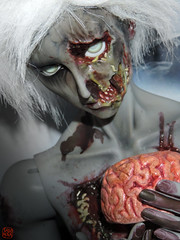 Lunch Time (Sadomina) Tags: halloween doll zombie brain creepy gore horror undead bjd corpse abjd balljointeddoll walkingdead necrophile ringdoll sadomina