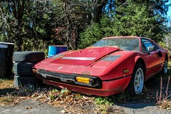 Abandoned Ferrari 308 Quattrovalvole (Rivitography) Tags: red newyork abandoned car canon rebel italian automobile antique fast ferrari exotic adobe t3 wreck expensive rare supercar horsepower lightroom 2014 308 southsalem quattrovalvole wreckedexotics rivitography